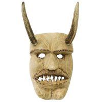 """""""Máscara de Rituais de Inverno"""", Tozé Vale, Vila Boa de Ousilhão, Vinhais, 2020, madeira, chifres de cervo, 19x33x18cm"""