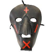 """""""Máscara de Rituais de Inverno"""", Filipe Costa, Podence, Macedo de Cavaleiros, 2020, couro pintado, 15x22x10cm [INDISPONÍVEL / UNAVAILABLE]"""