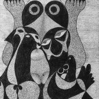 """Sem título"", 2020, artpen sobre papel, 24x32cm – REF CCJF20-016"