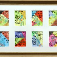 """""""Carlos Paredes — Capas Negras"""", 2018, aguarela sobre papel, 11x15cm (cada pintura), 84x57cm (moldura)"""