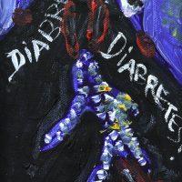"""Diabretes, Diabretes"", 2017, acrílico sobre tela, 11x15cm"