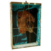 """""""Sem título"""", acrílico sobre assemblage de objectos vários em caixa, 36x52x9cm - CCMT20-028"""