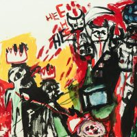 """Sem título"", 2014, acrílico sobre tela, 100x80cm"