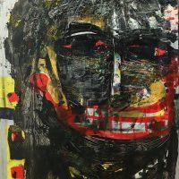 """""""Sem título"""", 2014, técnica mista sobre tela, 60x90cm"""