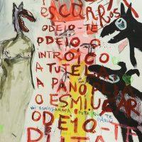"""""""Sem título"""", 2019, técnica mista sobre cartão, 75x90cm"""