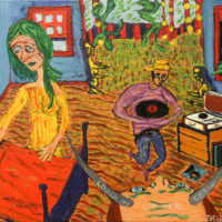 """""""Conta-me Como Seria"""", 2019, óleo sobre tela, 70x50cm"""