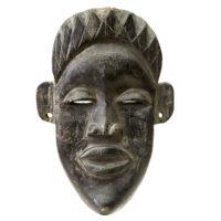 Máscara Ritual, Pende, R.D. Congo, século XX, madeira, 18x26x06cm – CC20-071
