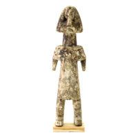 Figura Aklama, Adangbe, Gana, Séc. XX, madeira, pigmentos, 5x19x3cm – REF CCAK20-035
