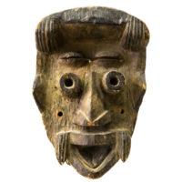 Máscara Tehe Gla (Bravery Mask), We/Guere/Kran, Libéria/Costa do Marfim, século XX, madeira, 12x32x12cm – CC20-070