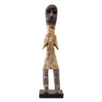 Figura Aklama, Adangbe, Gana, Séc. XX, madeira, pigmentos, 5x23x3cm – REF CCAK20-045