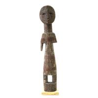 Figura Aklama, Adangbe, Gana, Séc. XX, madeira, pigmentos, 4x23x3cm – REF CCAK20-006