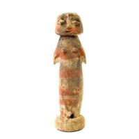 Figura Aklama, Adangbe, Gana, Séc. XX, madeira, pigmentos, 4x13x3cm – REF CCAK20-079