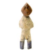 Figura Aklama, Adangbe, Gana, Séc. XX, madeira, pigmentos, 6x17x3cm – REF CCAK20-077