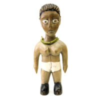 Figura Gemelar, Venavi, Ewe, Gana, Séc. XX, madeira pintada, 8x21x6cm – REF CC20-045