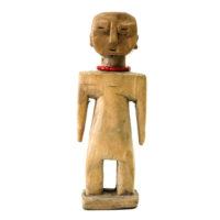Figura Gemelar, Venavi, Ewe, Gana, Séc. XX, madeira pintada, 7x18x5cm – REF CC20-047