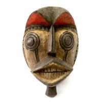 Máscara Ritual, Gurunsi, Burkina Faso, século XX, madeira, pigmentos, 19x29x12cm – CC20-051