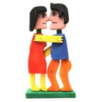 Casal a Dançar, 2020, acrílico sobre madeira, outros, 20x38x7cm – CCID20-069