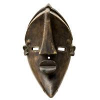 """""""Máscara Ritual Mvondo"""", Lwalwa, R.D. Congo, século XX, madeira, 20x50x17cm"""