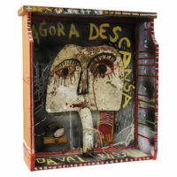 """""""Sem título"""", 2020, acrílico sobre assemblage de objectos vários em gaveta de madeira, 45x52x15cm – CCMT20-031"""