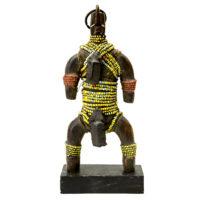 Boneca de Fertilidade, Namji, Camarões, Séc. XX, madeira, conchas, 10x22x6cm – REF CC20-098 [INDISPONÍVEL / UNAVAILABLE]