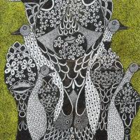 """Sem título"", Série Pandemia #10, 2020, artpen e tinta de vitral sobre papel, 21x30cm – REF CCJF20-028"