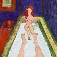 """""""La Bella Dona"""", 2008-16, técnica mista sobre papel, 42x60cm – CCZB17-001"""