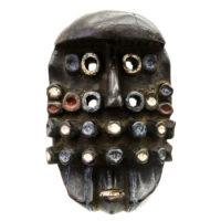Máscara Grebo Kru, Grebo, Libéria, Séc. XX, madeira, pigmentos, 15x22x13cm – CC20-150