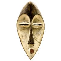 Máscara Mahongwe, Mahongwe, Gabão, Séc. XX, madeira, pigmentos, 19x37x15cm – CC20-144