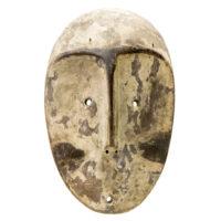 Máscara, Lega, R.D. Congo, Séc. XX, madeira, pigmentos, 17x27x7cm – REF CC20-102
