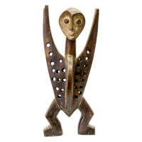 Figura Katanda, Lega, R.D. Congo, Séc. XX, madeira, pigmentos, 15x33x8cm – CC20-106