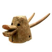 Máscara Mangam, Mama, Nigéria, Séc. XX, madeira, pigmentos, 19x22x60cm – CC20-152