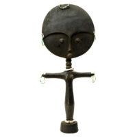 Akuaba Doll, Ashanti, Gana, Séc. XX, Madeira, contas, 15x36x5cm – REF CC20-173