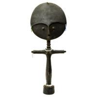 Akuaba Doll, Ashanti, Gana, Séc. XX, Madeira, contas, 16x39x6cm – REF CC20-174