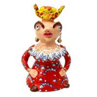 """""""Boneca Vermelha"""" Júlia Côta, Galegos - Barcelos, 2020, Barro pintado, 13x24x14cm – CC20-214"""