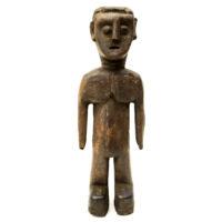 Figura Gemelar Venavi, Ewe, Gana, Séc. XX, Madeira pintada, 11x34x10cm – REF CC20-181