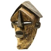 Máscara Mvondo, Lwalwa, R.D. Congo, Séc. XX, madeira, pigmentos, 27x39x15cm – REF CC20-170
