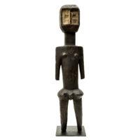 Figura Kota, Kumu, R.D. Congo, Séc. XX, madeira, pigmentos, 13x60x10cm – REF CC20-168