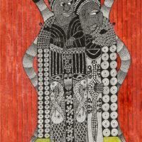"""""""Sem título"""", 2020, artpen e tinta de vitral sobre papel, 30x42cm – CCJF20-031"""