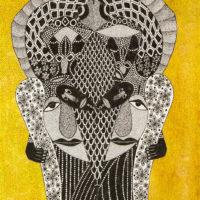 """""""Sem título"""", 2020, artpen e tinta de vitral sobre papel, 30x42cm – CCJF20-033"""