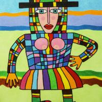 Ceifeira Cubista, 2020, Acrílico sobre tela, 81x101cm – CCID20-091