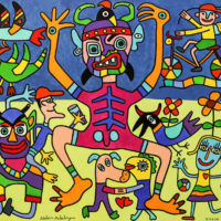 O Bobo da Festa, 2020, Acrílico sobre tela, 100x81cm – CCID20-088 [INDISPONÍVEL / UNAVAILABLE]
