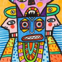 Deus Manhoso, 2020, Acrílico sobre cartolina, 30x42cm – CCID20-097