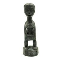Figura Colon, Gouro, Costa do Marfim, Séc. XX (1970s), madeira pintada, 7x22x7cm – REF CC21-004