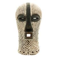 Máscara Kifwebe, Songye, R.D. Congo, Séc. XX, madeira, pigmentos, 17x32x18cm – REF CC21-009