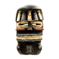 Máscara Passport Glé, Bete, Costa do Marfim, Séc. XX, madeira, pigmentos, 8x18x10cm – REF CC21-005