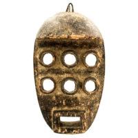 Máscara Kru, Grebo, Libéria, Séc. XX, madeira, pigmentos, 18x32x12cm – REF CC21-003