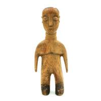 Figura Gemelar Venavi Masculina, Ewe, Gana, Séc. XX, madeira pintada, 8x24x5cm – REF CC21-012