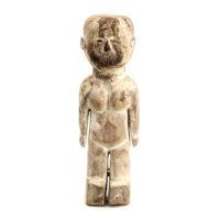 Figura Venavi Masculina, Ewe, Gana, Séc. XX, madeira pintada, 7x20x5cm – REF CC21-015