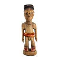 Figura Gemelar Venavi Masculina, Ewe, Gana, Séc. XX, madeira pintada, 5x16x5cm – REF CC21-017