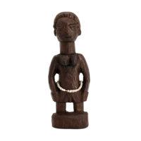 Figura Gemelar Hohovi Feminina, Fon, Gana, Séc. XX, madeira pintada, 4x13x2cm – REF CC21-018 [INDISPONÍVEL / UNAVAILABLE]